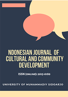 ndonesian Journal  of  Cultural and Community Development