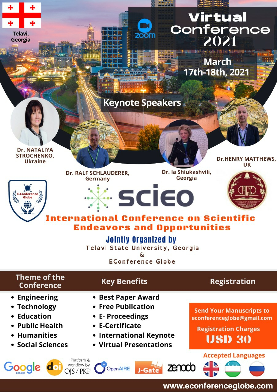 INTERNATIONAL CONFERENCE ON SCIENTIFIC ENDEAVORS AND OPPORTUNITIES