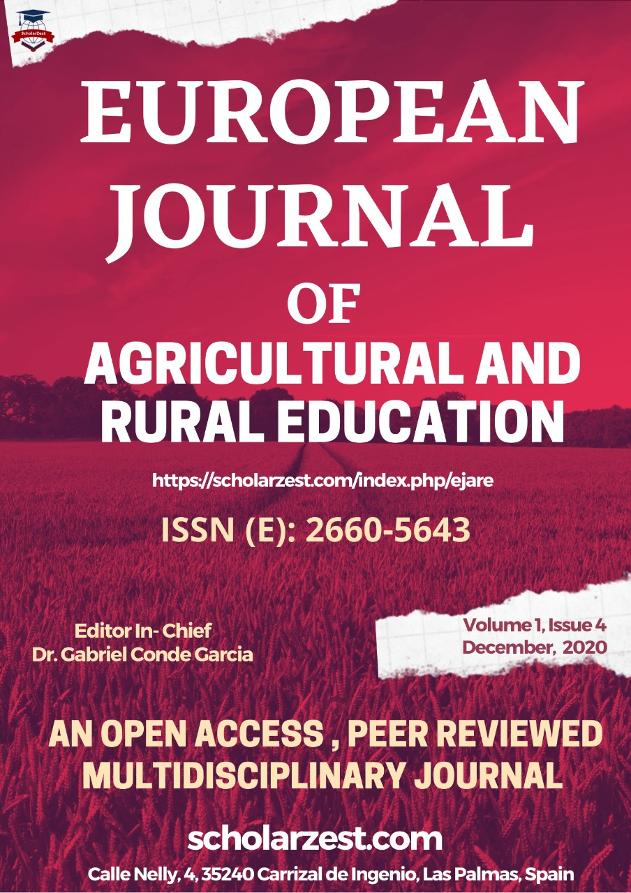 European Journal of Agricultural and Rural Education (EJARE)